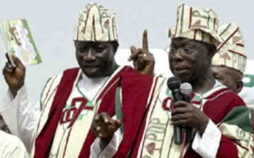 Goodluck Jonathan and Obasanjo